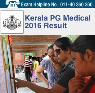 Kerala PG Medical 2016 Result