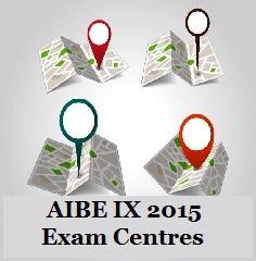 AIBE IX 2015 Exam Centres