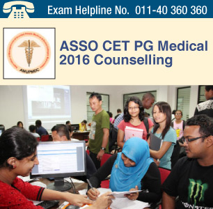 ASSO CET PG Medical 2016 Counselling