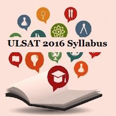 ULSAT 2016 Syllabus