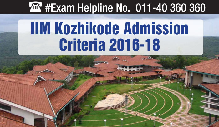 IIM Kozhikode Announces Admission Criteria for PGP 2016-18