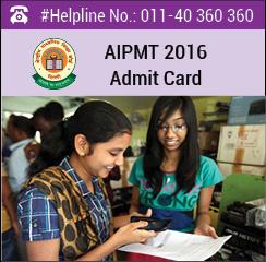 AIPMT 2016 Admit Card
