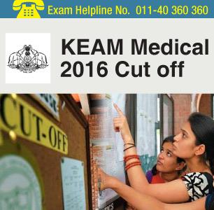 KEAM Medical 2016 Cut off
