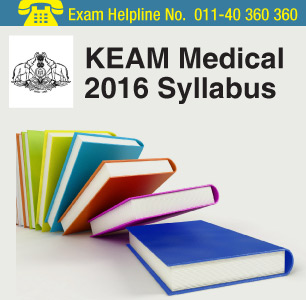 KEAM Medical 2016 Syllabus