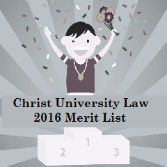Christ University Law 2016 Merit List