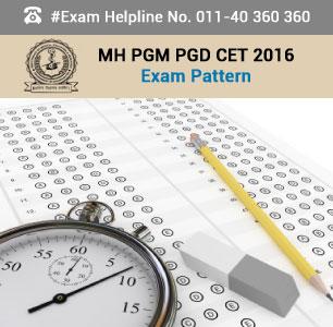 MH PGM PGD CET 2016 Exam Pattern