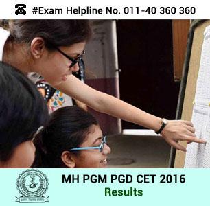 MH PGM PGD CET 2016 Result