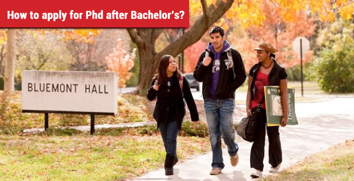 How to apply for Phd after Bachelor's?