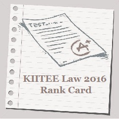 KIITEE Law 2016 Rank Card
