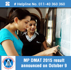 APDMC announces MP DMAT 2015 Result on October 9