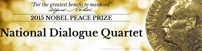 Nobel Peace Prize 2015 goes to Tunisian National Dialogue Quartet for building pluralistic democracy