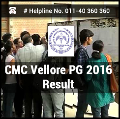 CMC Vellore PG 2016 Result