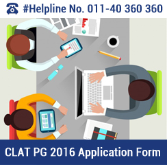 CLAT PG 2016 Application Form