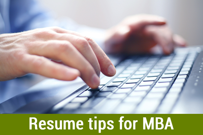 Resume tips for MBA