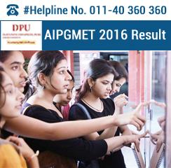 AIPGMET 2016 Result