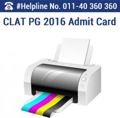 CLAT PG 2016 Admit Card