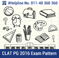 CLAT PG 2016 Exam Pattern