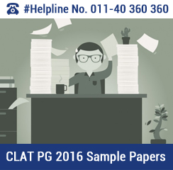 CLAT PG 2016 Sample Papers