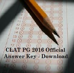 CLAT PG 2016 Answer Key