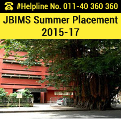 JBIMS Summer Placement 2015-17: 23% batch recruited by BFSI sector