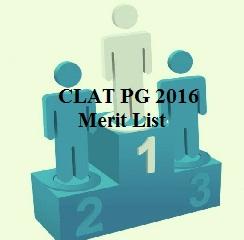CLAT PG 2016 Merit List