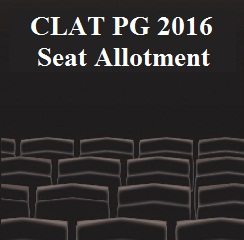 CLAT PG 2016 Seat Allotment