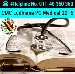 CMC Ludhiana PG Medical 2016