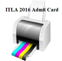 ITLA 2016 Admit Card