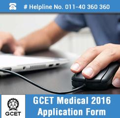 GCET Medical 2016 Application Form
