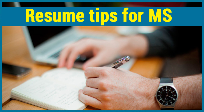 Resume Tips For Ms