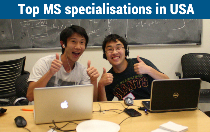 Top MS specialisations in USA