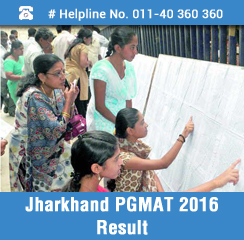 Jharkhand PGMAT 2016 Result