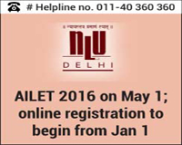 AILET 2016 on May 1; online registration to begin from Jan 1