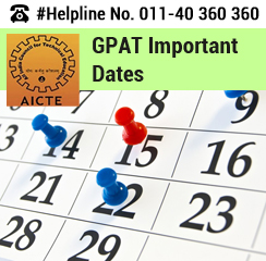 GPAT 2016 Important Dates
