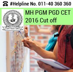 MH PGM PGD CET 2016 cut off