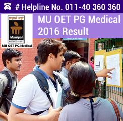 MU OET PG Medical 2016 Result
