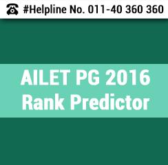 AILET PG 2016 Rank Predictor