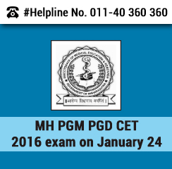 MH PGM PGD CET 2016 on Jan 24; Applications from Dec 2015