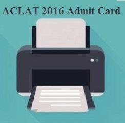 ACLAT 2016 Admit Card
