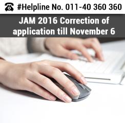 JAM 2016 Correction of Application till November 6!