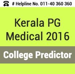 Kerala PG Medical 2016 College Predictor