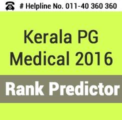 Kerala PG Medical 2016 Rank Predictor
