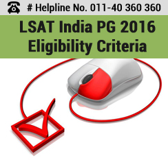 LSAT India PG 2016 Eligibility Criteria