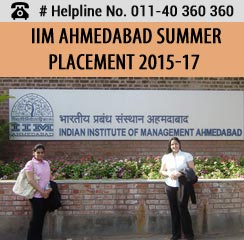 IIM Ahmedabad Summer Placement 2015-17; Boston Consulting Group as top recruiter