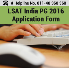 LSAT India PG 2016 Application Form