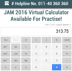 JAM 2016 Virtual Calculator Available For Practise!
