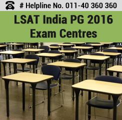 LSAT India PG 2016 Exam Centres
