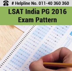 LSAT India PG 2016 Exam Pattern