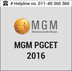 MGM PGCET 2016