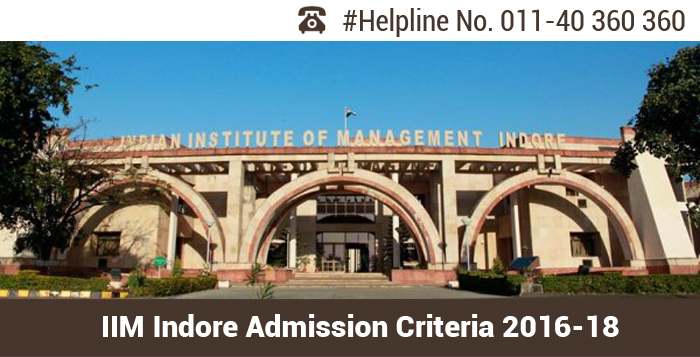 IIM Indore Admission Criteria 2016-18; Maximum weightage on PI for final selection